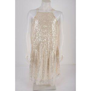 Zara Girls Sequin Silver Dress Sz 13-14 yrs 164 cm